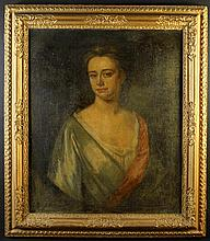 An Early 18th Century English School Oil on Canvas: Head & Shoulders Portrait of a Lady, 30 ins x 25