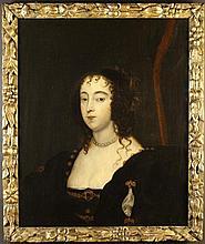 Follower of Van Dyke. A 17th Century Oil on Canvas: Head & Shoulders Portrait of Lady Margaret Tufto