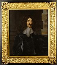 English School. A 17th Century Oil on Canvas: Three Quarter Length Portrait of an Officer in white w