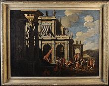 Circle of Viviano Codazzi. A Pair of Oil Paintings on Canvas: Depictions of 'The Martyrdom of St Ste