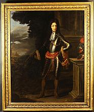 School of William Wissing (1653-1687).  A 17th Century Oil on Canvas: Full Length Portrait of Willia