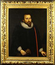 A Fine Pair of 17th Century Oils on Canvas dated 1621: Half length Portraits of Richard Graves aged