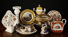 A Collection of Decorative Ceramics & an Onyx