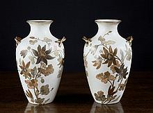 A Pair of Pointons Stoke on Trent Vases hand