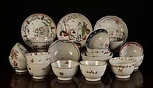 A Collection of 17 Late 18th Century Teabowls hand