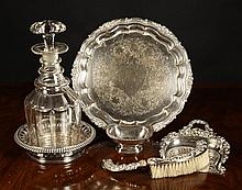 A Fine Sheffield Plated Salver on three scroll
