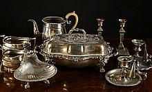 A Collection of Silver Plated Wares: A Dixon &