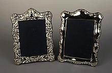 Two Decorative Silver Photo Frames by Carr's of