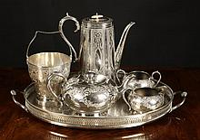A Collection of Silver Plated wares: An oval