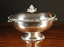 A Large Silver Tureen & Cover with 950 stamp. The