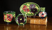 Four Pieces of Moorcroft Pottery decorated with