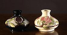 Two Moorcroft ''Magnolia'' Vases dated 1992. 4¼