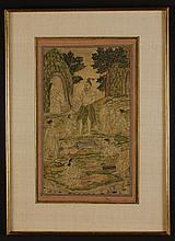 Two 18th Century Indian Paintings delicately