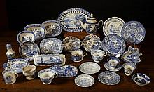 A Collection of 19th Century Blue & White Transfer