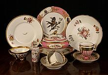 A Collection of Decorative China: A French cabinet