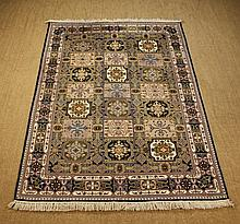 A Wool Carpet woven with an unusual palette of