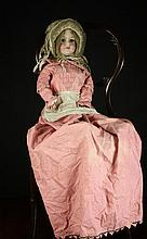 A Bisque Headed Doll marked C.M. Bergmann