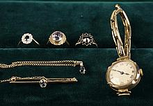 A Collection of Jewellery: A pretty 9 carat &