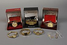 Six Wrist Watches: Three Accurist, two Rotary and