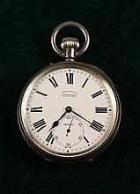 A Silver Pocket Chronometer. The 2 inch (5 cm)
