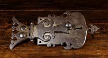 A 17th Century Iron Lock & Key.