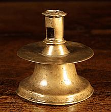 A 16th Century Brass Capstan Candlestick. The