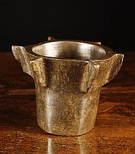 A 16th Century Spanish Bronze Mortar with six