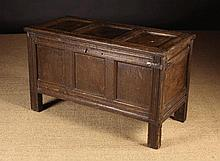 A 17th/Early 18th Century Joined Oak Triple Panel