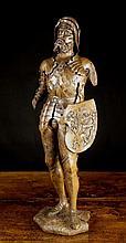A Fine Late 15th Century Oak Sculpture of a Man in