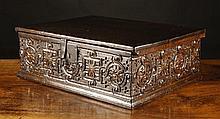 A Fine Early 17th Century Boarded Oak Desk Box.