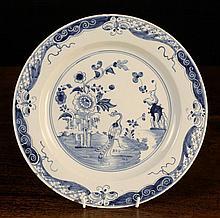 A Fine 18th Century English Blue & White Delft