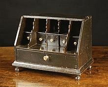 A Rare Queen Anne Oak Table Bureau. The front
