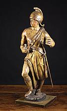 A Polychromed Wood Carving of a Soldier, Circa
