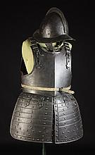 A Cromwellian Pikeman's Suit of Armour: A helmet,