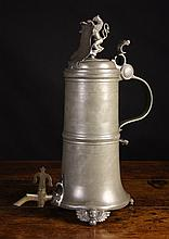 A Large & Impressive Pewter Tankard of the