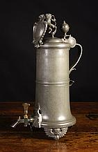 A Large & Impressive 18th Century Pewter Flagon of