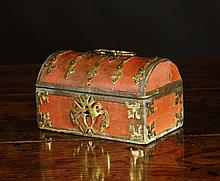 A 17th Century French Dome Topped Casket. The