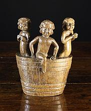 A 16th Century Oak Fragment Carving of Three Young