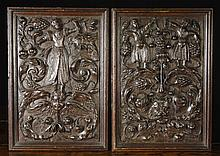 A Pair of Charming 16th Century Renaissance Relief
