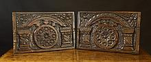 A Pair of Late 16th/Early 17th Century Carved Oak