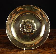 A 15th Century Nuremberg Brass Alms Dish with a