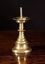 A 15th Century Gothic Brass Pricket Stick with