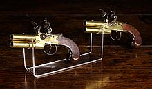 A Pair of Flintlock Over & Under Tap-Action