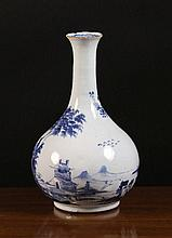 An 18th Century Blue & White English Delft Guglet