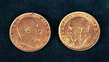 Two Gold Sovereigns dated 1911 and 1906.
