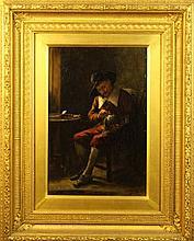 A Hamilton. A 19th Century Oil on Canvas: Genre Pa