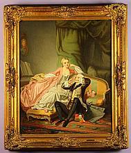 Auguste Serrure (Belgian 1825-1903).  An Oil on Ca