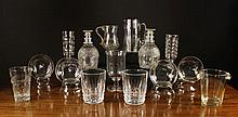 A Collection of Glassware to include; A Georgian B
