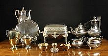 A Good Collection of Silver Plated Wares: A semi-r