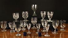 A Collection of Glassware mainly Rummers & Goblets